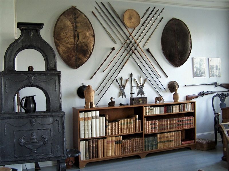 Museo di Karen Blizen - La stanza di Ewald, con ricordi del periodo di Karen in Africa