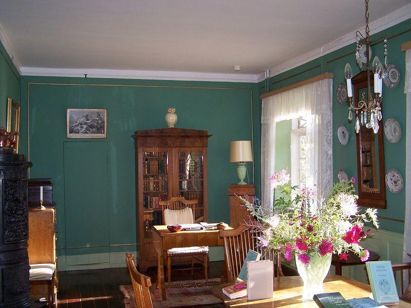 Museo di Karen Blixen - Un angolo della calda, accogliente Stanza Verde, riservata agli ospiti