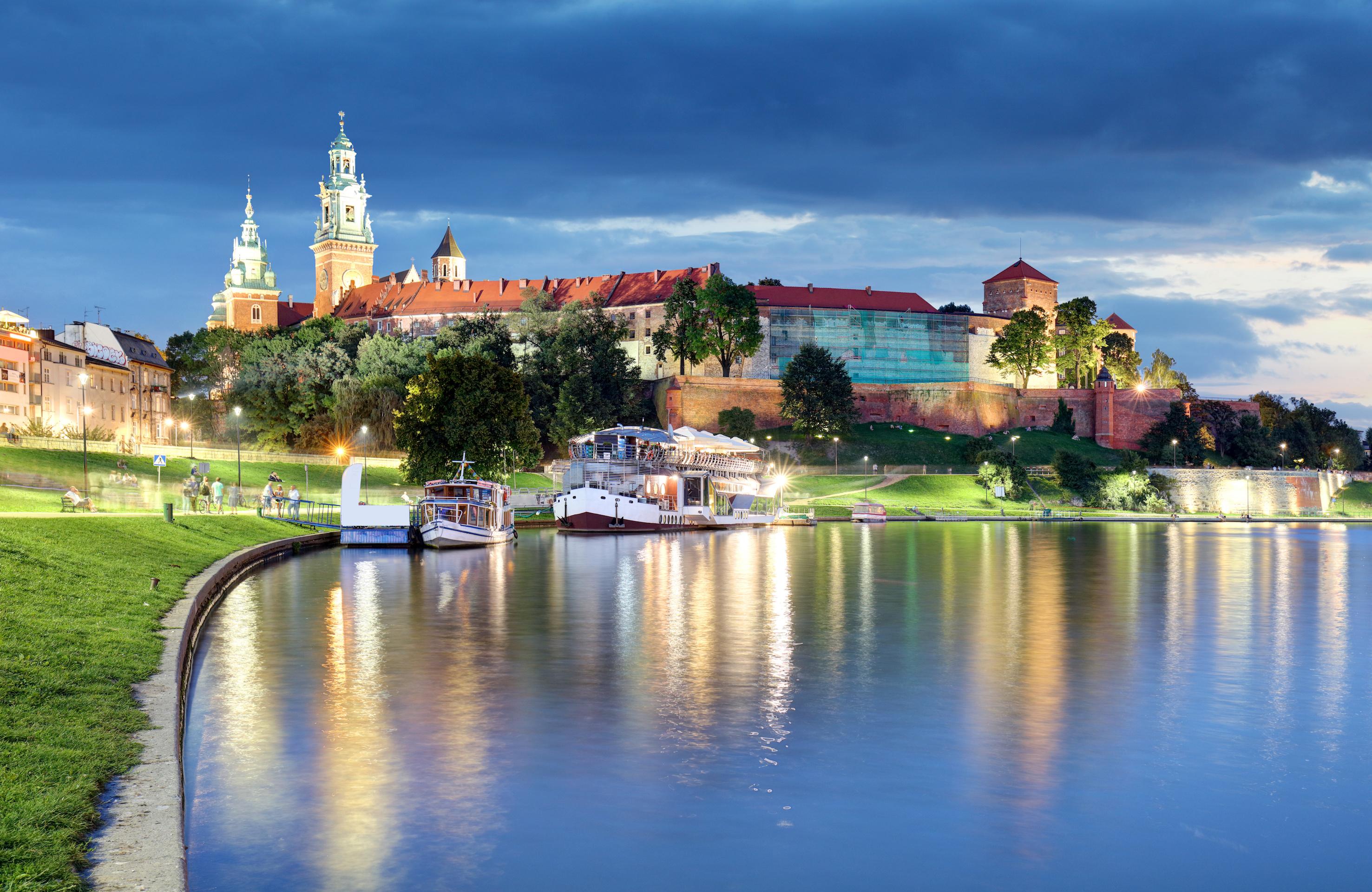 Vista sul Castello di Wawel