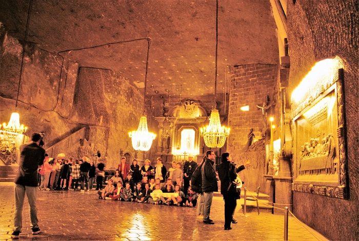 La cattedrale della miniera di Sale di Wieliczka