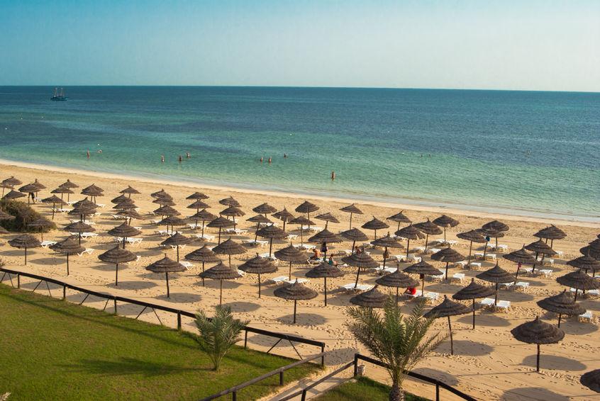 Spiaggia di Midoun sull'isola di Djerba