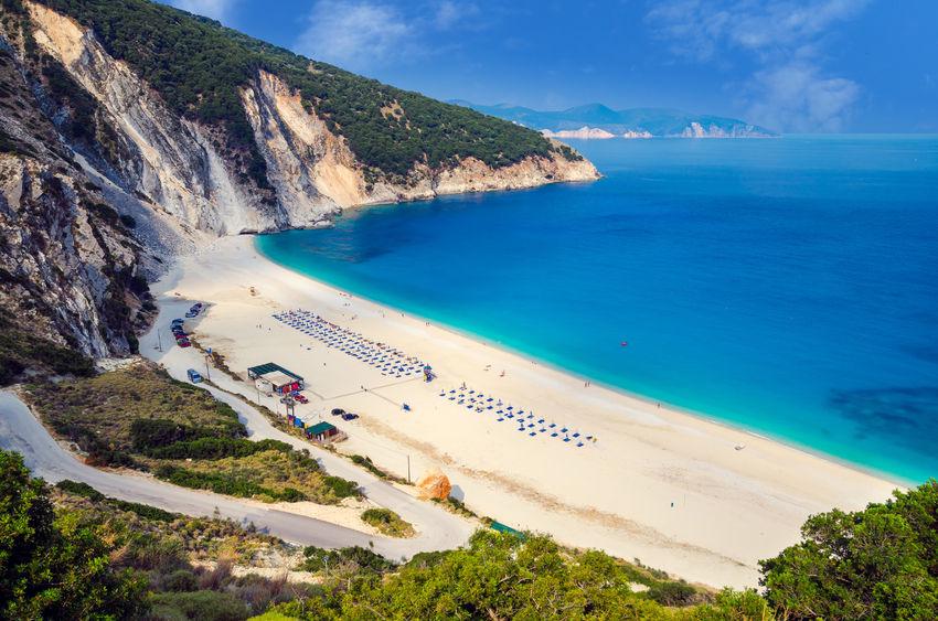 Baia di Myrtos sull'Isola di Cefalonia - Grecia