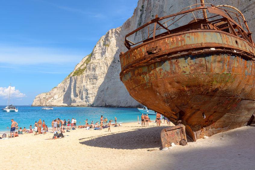 Relitto della motonave Panagiotis sulla Spiaggia Navagio - Isola di Zante, Grecia