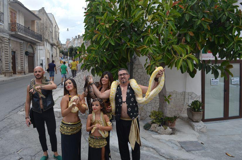 Oria- 52° Torneo dei Rioni 2018-famiglia-serpenti- Foto di Carmen Mancarella