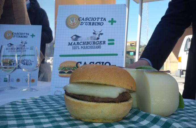 Casciotta d'Urbino-Il Cascioburger o Marchburger