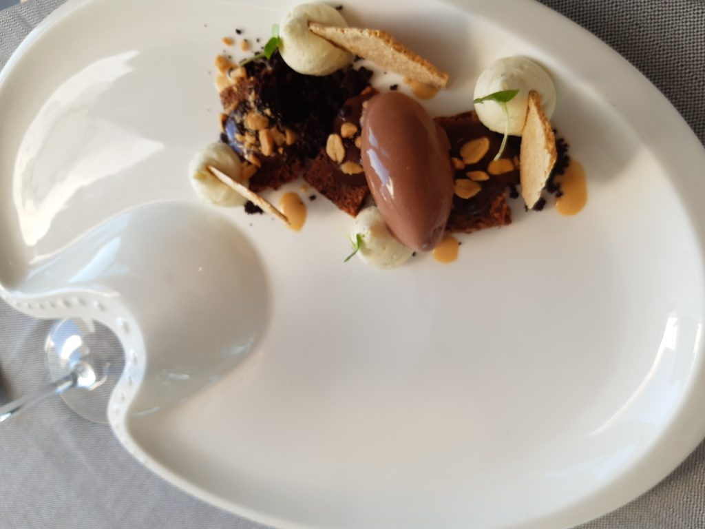 Rostprante Almare_Consistenze di cioccolato, caramello salato, arachidi e lime