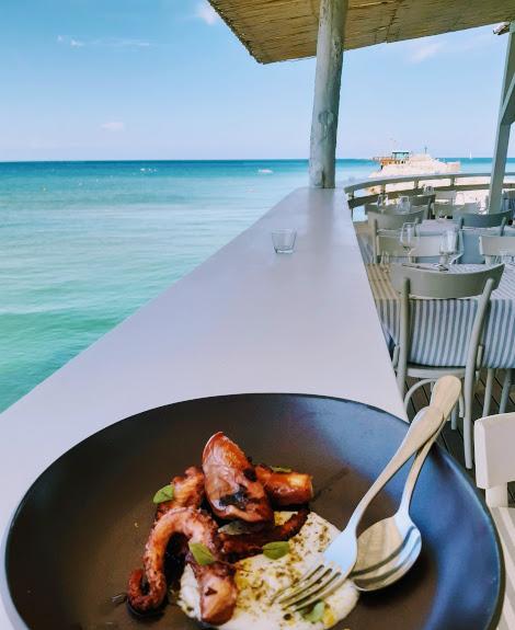 Levante ristorante a Fano_polpo alla griglia in salsa di mandorle, limone e capperi