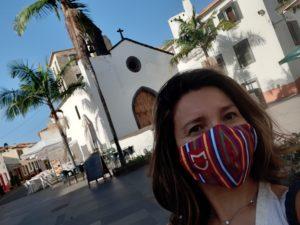 A spasso per Funchal con mascherina Madeira Clean & Safe