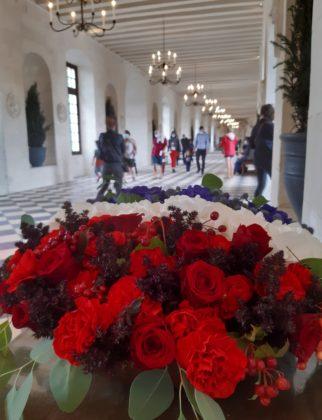 Castello di Chenonceau_ galleria con bouquet