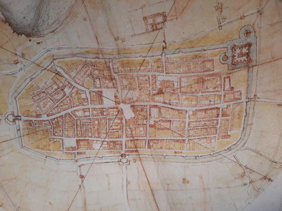 Château du Clos Lucé -Le gallerie di Leonardo - Planimetria di Imola-Studio-dall'alto