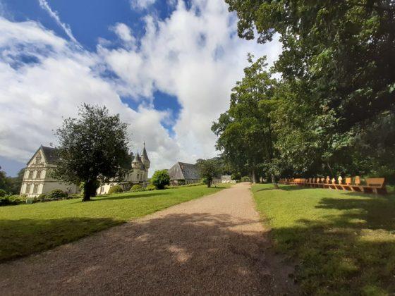 Chateau de la Bourdaisière_ le panche per meditare sul tempo
