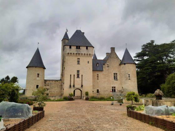 Chateau Du Rivau Vista con orto